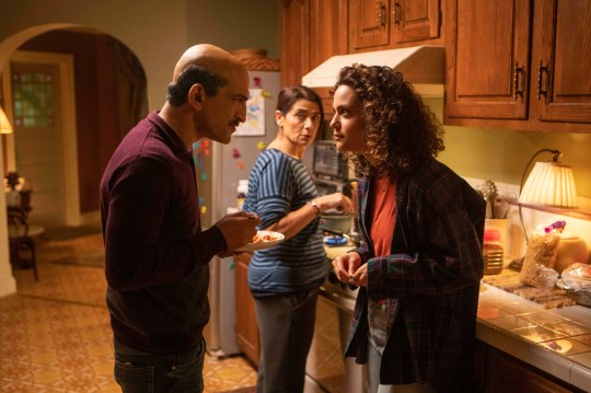 Ramy's sister Dena (May Calamawy, right) butts heads with parents Maysa (Hiam Abbass) and Farouk (Amr Waked).