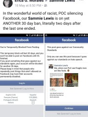 """It basically says that we don't matter. The harm being caused to us perpetually, constantly is nothing to (Facebook),"" Samreen ""Sammie"" Lewis says. ""They'd much rather shut us up for their own comfort than acknowledge the harm they are causing."""