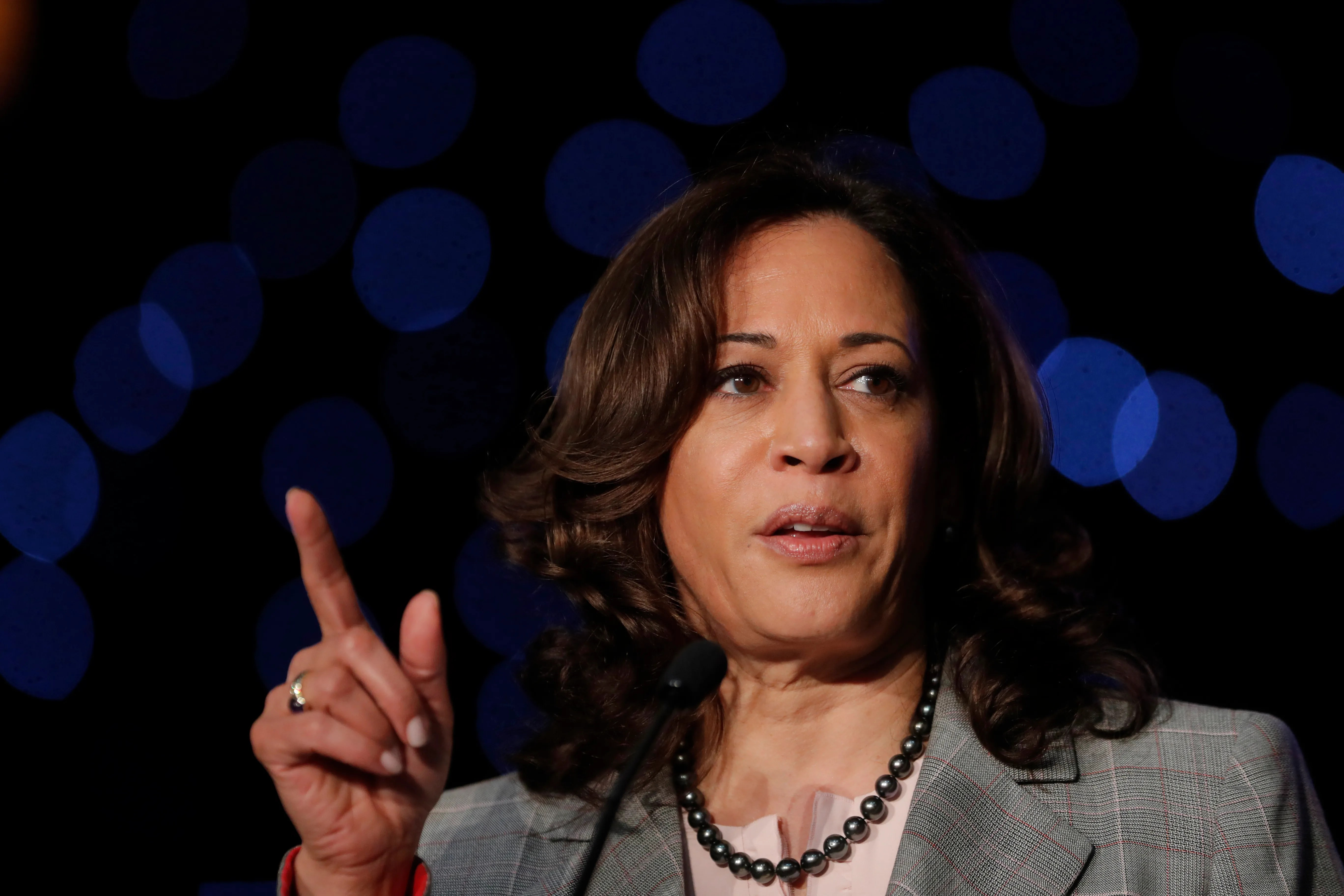 Democratic presidential candidate Sen. Kamala Harris, D-Calif., speaks at the Alpha Kappa Alpha Sorority South Central Regional Conference in New Orleans,  April 19, 2019.