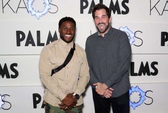Former USC teammates Reggie Bush, left, and Matt Leinart will be reunited as broadcast partners on a Fox Sports college football pregame show this fall.