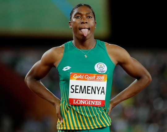 South Africa's Caster Semenya waits to compete in the woman's 800m final at Carrara Stadium during the 2018 Commonwealth Games on the Gold Coast, Australia. Caster Semenya lost her appeal Wednesday May 1, 2019 against rules designed to decrease naturally high testosterone levels in some female runners.