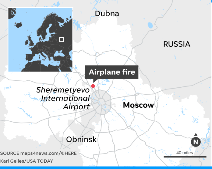 At least 40 dead in fiery Moscow jet landing caught on video