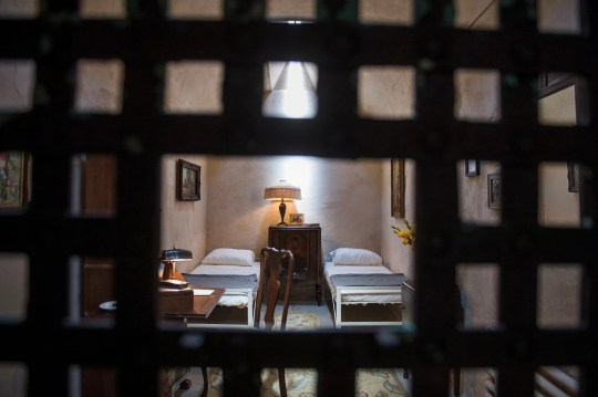 The reimagined prison cell for Al Capone at Eastern State Penitentiary in Philadelphia doesn't leave out that he shared his above-par digs with a roommate.