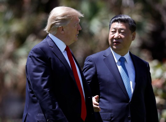President Donald Trump and Chinese President Xi Jinping.