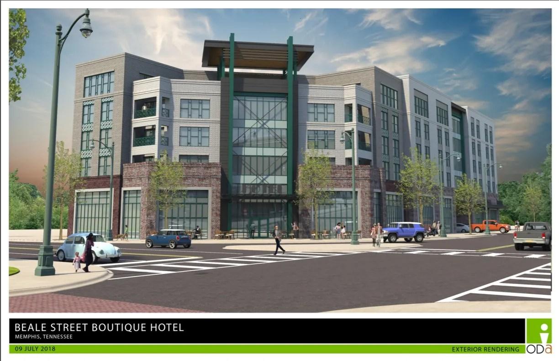 Beale Street Hotel Development Team Union Row Delayed Project