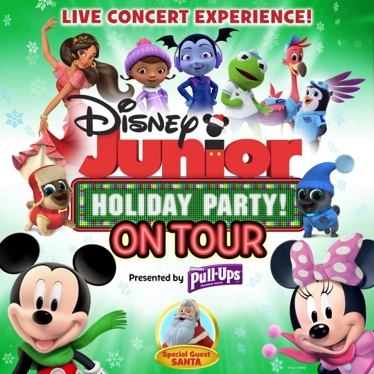 DISNEY JUNIOR HOLIDAY PARTY ON TOUR - Key Art. (Disney Junior)