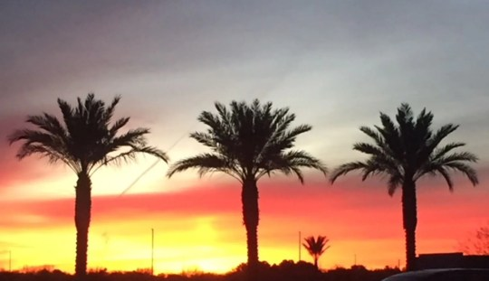 Sunrise in Chandler while going to work.