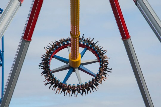 Six Flags Discovery Kingdom Wonder Woman Lasso of Truth. A similar ride will open at Six Flags Great Adventure.