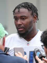 Michael Roberts talks with reporters after minicamp on June 4, 2019, in Allen Park.