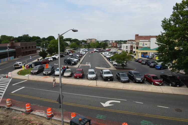 A view of Parking Lot 1 in downtown Salisbury on Friday June 7, 2019. A majority of this space will soon be a town square.
