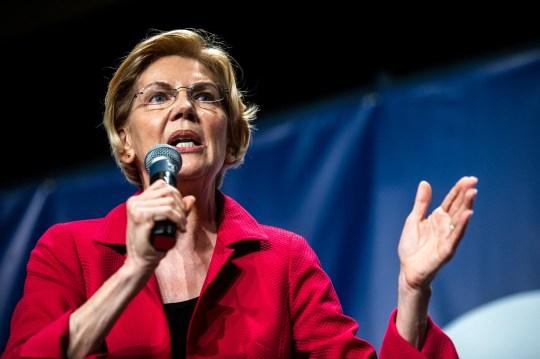 U.S. Sen. Elizabeth Warren, D-Mass., speaks during the Iowa Democratic Party Hall of Fame dinner, Sunday, June 9, 2019, at the DoubleTree by Hilton in Cedar Rapids, Iowa.