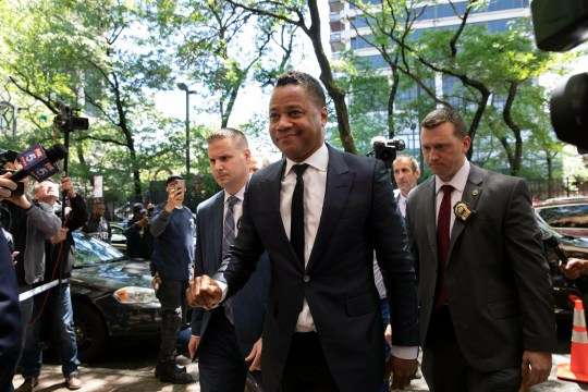 Cuba Gooding Jr. arrives at the New York Police Department's Special Victim's Unit, June 13, 2019 to face an allegation he groped a woman at Manhattan bar.