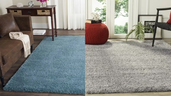 This fluffy rug is begging to be laid on.