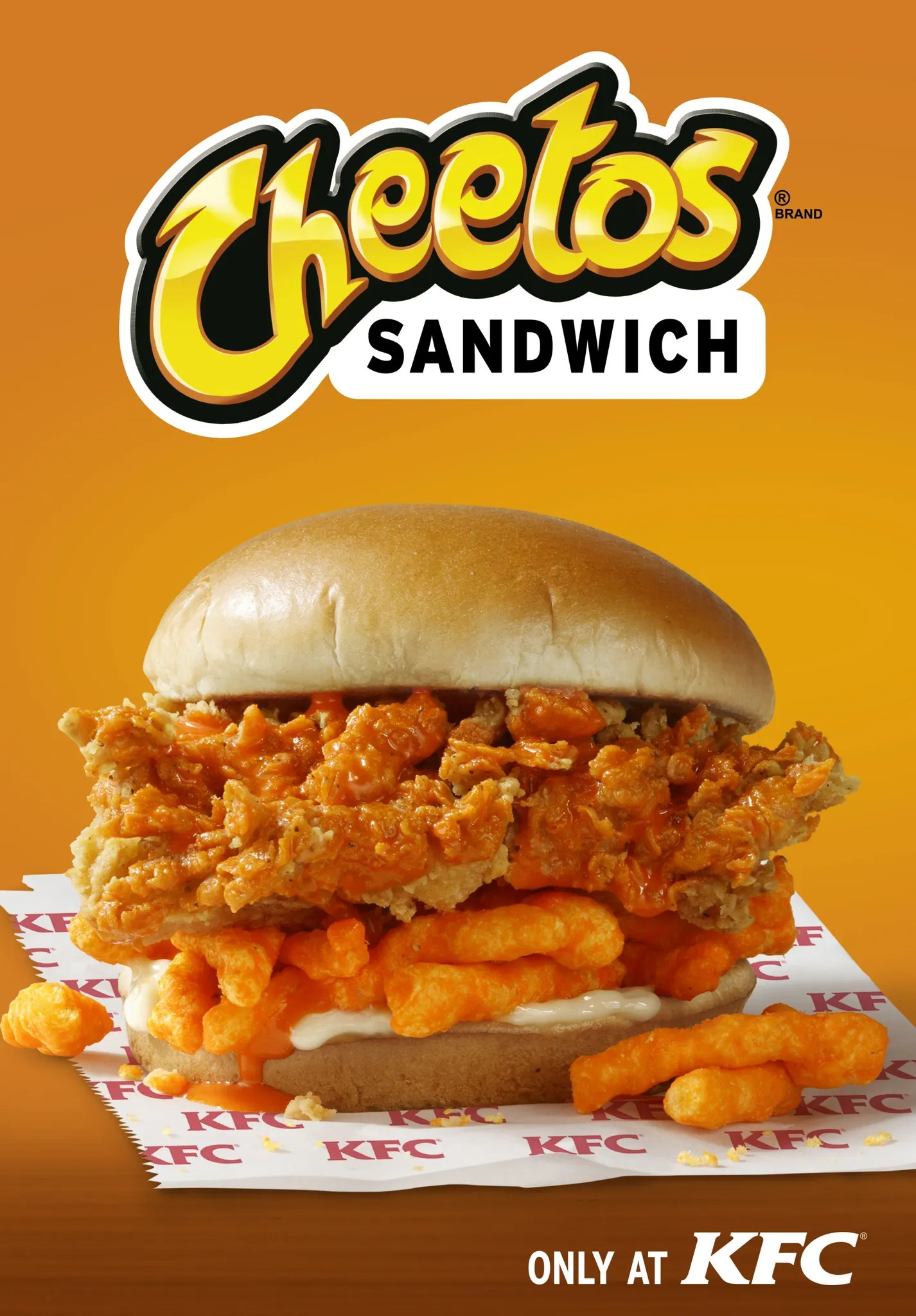 kfc cheetos sandwich is
