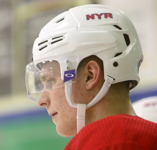 Kaapo Kakko during the first day of New York Rangers development camp June 24, 2019 at Chelsea Piers in Stamford, Conn.