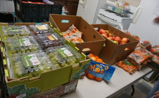 Fresh produce at the Sloatsburg Food Pantry, where locals in Sloatsburg, Suffern, Hillburn, Montebello and the Town of Tuxedo can pick up food on the second and fourth Tuesday,on March 26, 2019.