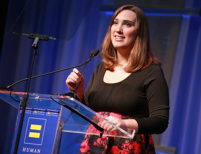 Sarah McBride, National Press Secretary for the HRC Foundation, speaks onstage at The Human Rights Campaign 2018 Los Angeles Gala Dinner at JW Marriott Los Angeles on March 10, 2018.