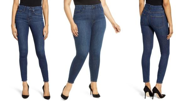 Estos vaqueros de Good American tienen una cintura contorneada y son especialmente perfectos para las curvas.