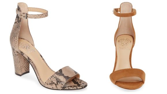 Una correa de tobillo + bloque de tacón = los zapatos de tus sueños.