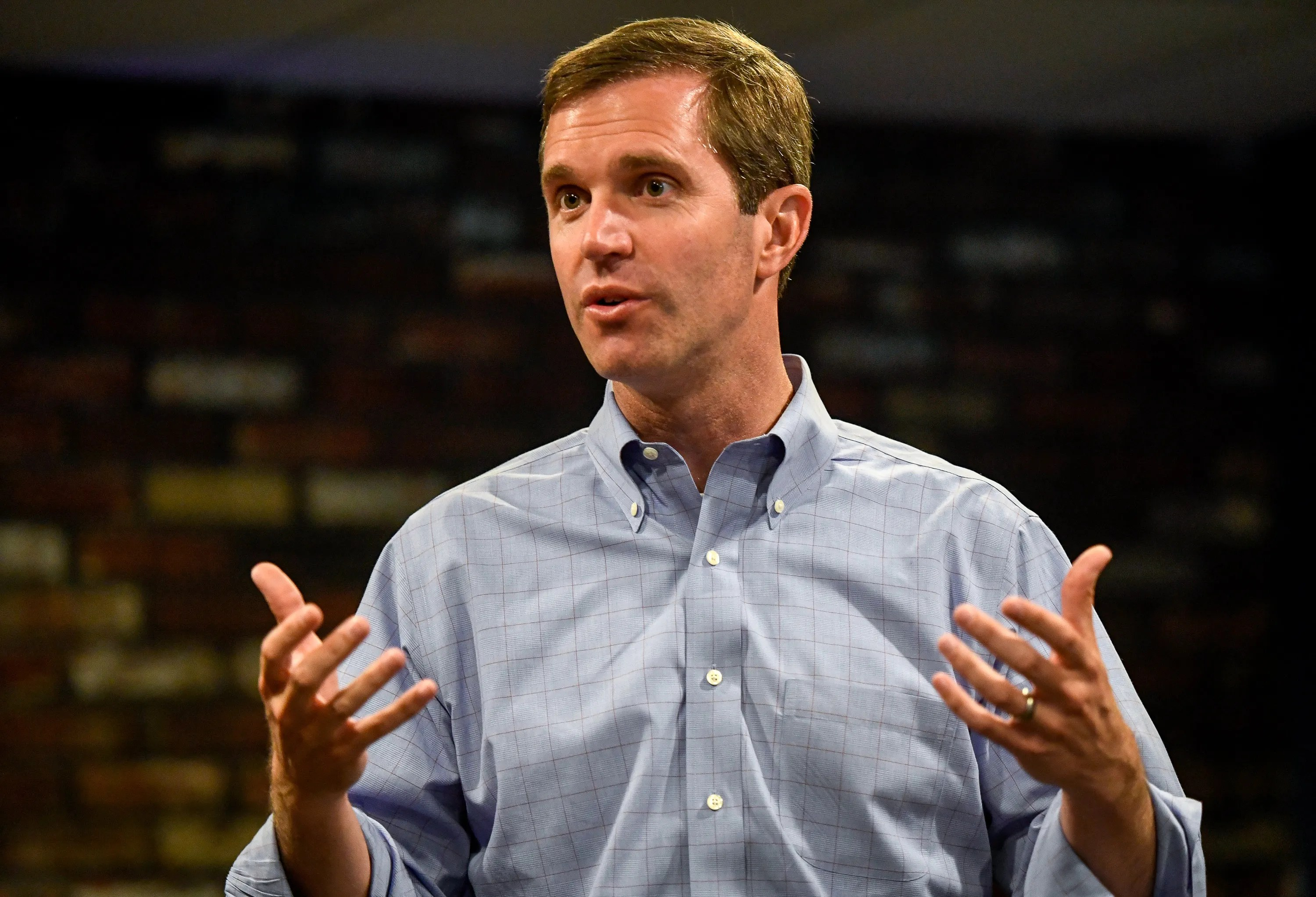 Kentucky Gubernatorial Candidate Andy Beshear Meets With