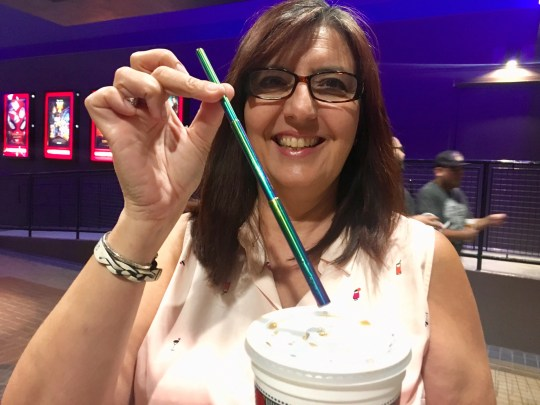 Niki Pallas got a telescoping stainless steel straw it after she cleaned out her car and realized how many straws she was using by how many paper wrappers she picked up.
