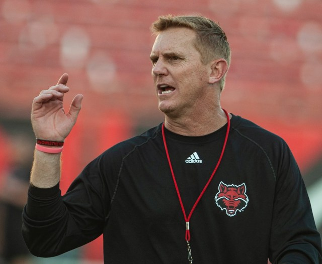 ecfd4eec-570f-4fe0-bb1c-65979fe57cbe-AP_Arkansas_St_Scrimmage_Football Arkansas State football coach Blake Anderson takes leave of absence
