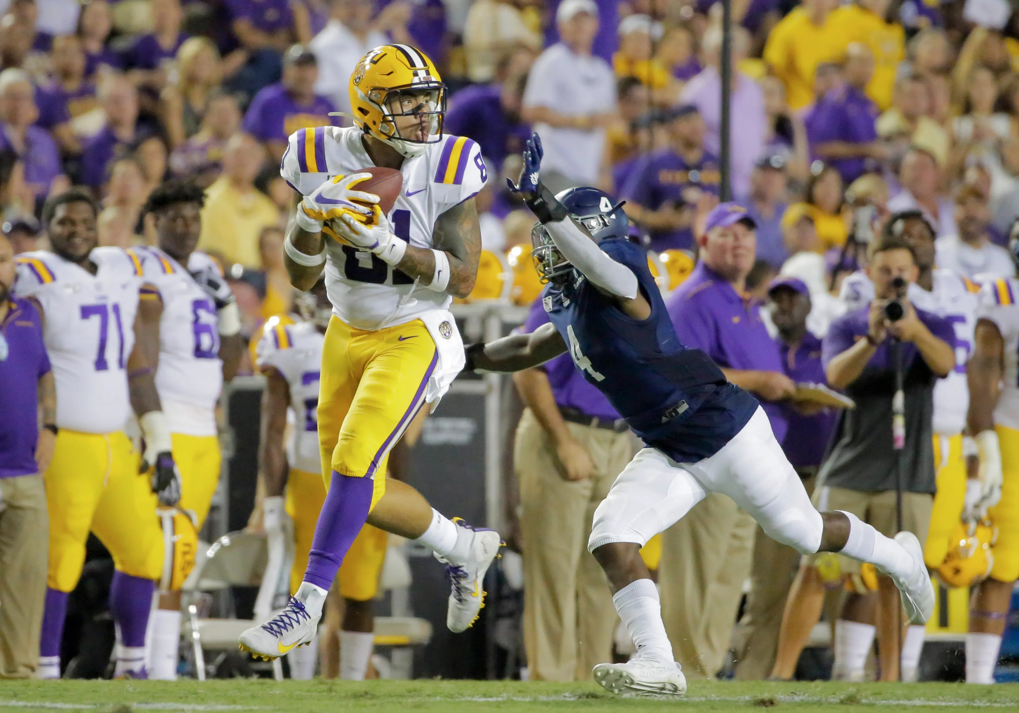 Lsu Tight End Thaddeus Moss Cannot Wait To Play Football Again