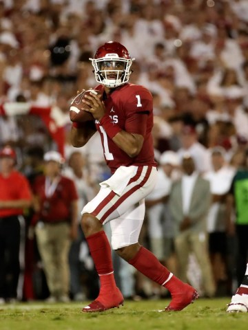 Jalen Hurts' had a spectacular debut for Oklahoma.