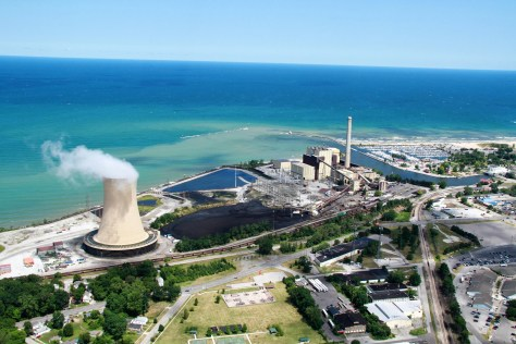 The Michigan City generating station in Michigan City, Indiana that will beclosed by 2028. Run by the Northern Indiana Public Service Company, the site contains one of the utility's five remaining coal-fired generating units. The electricity generated by the plant will be replaced with wind, solar and battery storage, according to the utility.