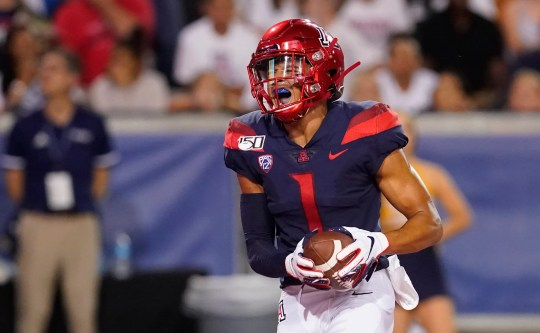 Arizona wide receiver Drew Dixon (1) in the first half during an NCAA college football game against Northern Arizona, Saturday, Sept. 7, 2019, in Tucson, Ariz.