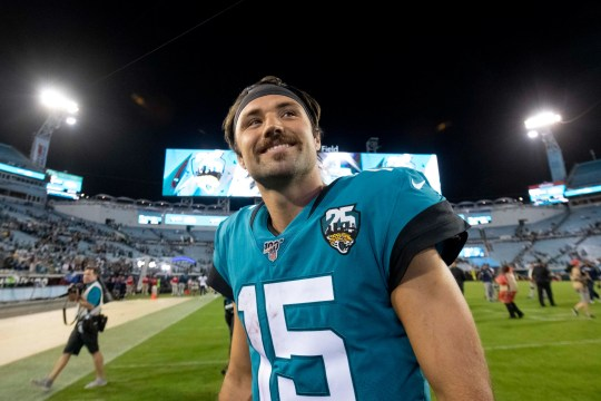 Gardner Minshew walks off the field after the Jaguars' win over the Titans.