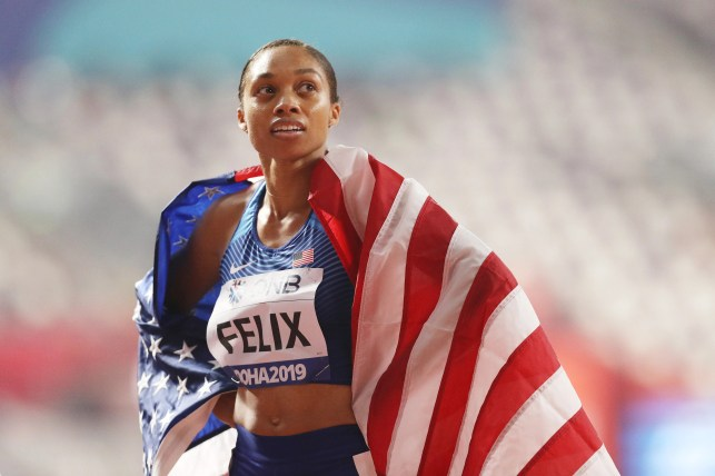 Allyson Felix eclipses Usain Bolt's record for most gold medals at worlds — her first as a mother