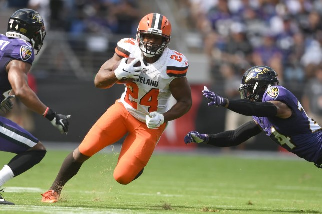 Fantasy football sizzlers, fizzlers: Nick Chubb, Leonard Fournette run wild