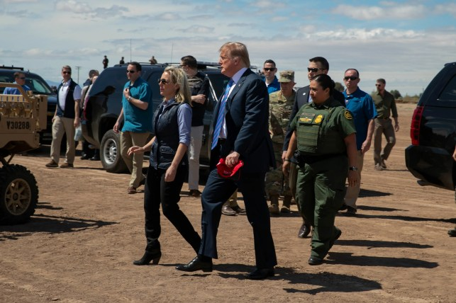 Donald Trump claims he didn't want moat, snakes, and gators at the Mexican border