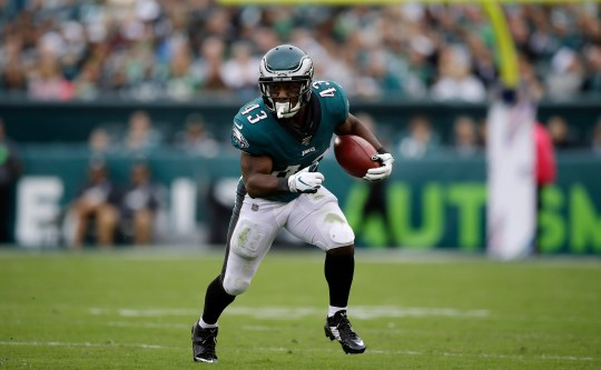 Philadelphia Eagles' Darren Sproles in action during the first half of an NFL football game against the New York Jets, Sunday in Philadelphia.