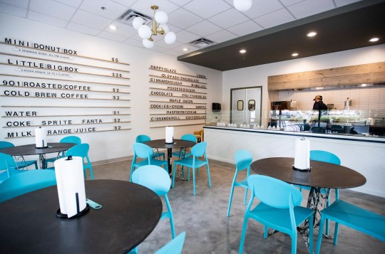Happy Glaze Donuts is officially opening in a permanent location in Germantown on Friday, Oct. 18, 2019. The store will offer freshly made mini donuts with a selection of toppings.