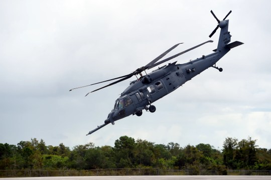 """A new combat rescue helicopter, the  HH-60W """"Whiskey"""" model of the Pave Hawk, was on display during a ceremony at the Sikorsky Development Flight Center in Jupiter on Monday, Oct. 7, 2019. Four HH-60W aircraft are undergoing testing and five more are in production."""