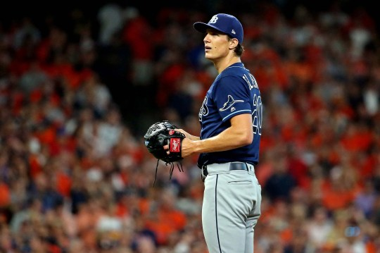 Rays starter Tyler Glasnow gave up four earned runs in the first inning.