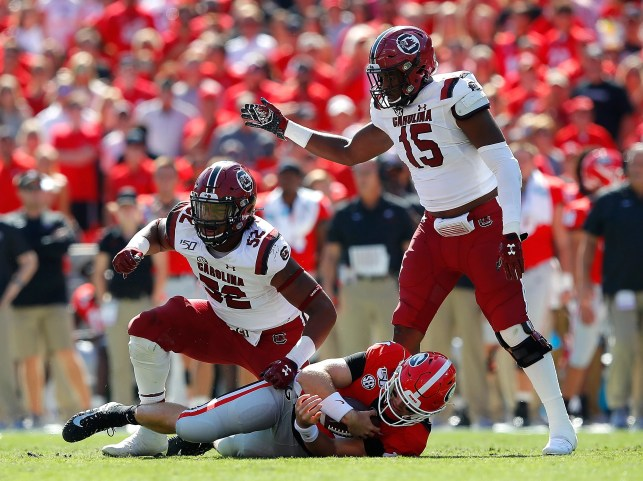 South Carolina shocks No. 3 Georgia in two overtimes to shake up College Football Playoff race