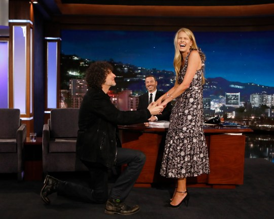 "Howard Stern re-proposes to Beth Stern on ""Jimmy Kimmel Live!"""