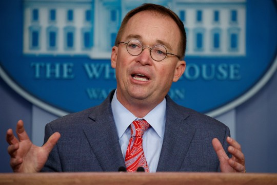White House chief of staff Mick Mulvaney announces that the G7 will be held at Trump National Doral on Oct. 17, 2019.