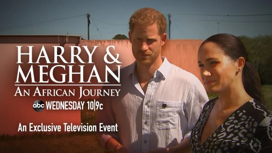 The ITV film about Prince Harry and Duchess Meghan's tour of Africa will air on ABC in the U.S. on Oct. 23, 2019.