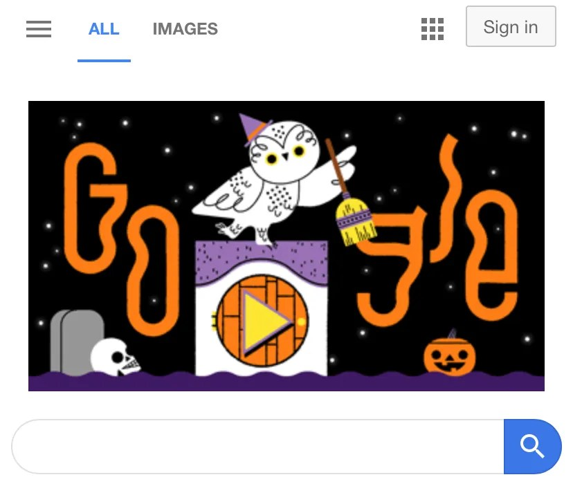 Halloween 2019 Google Doodle Becomes Spooky Game Of