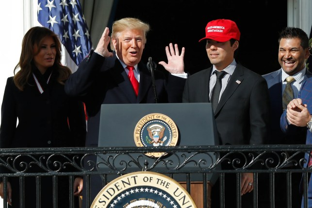 Opinion: Nationals swing and miss with partisan play at White House celebration