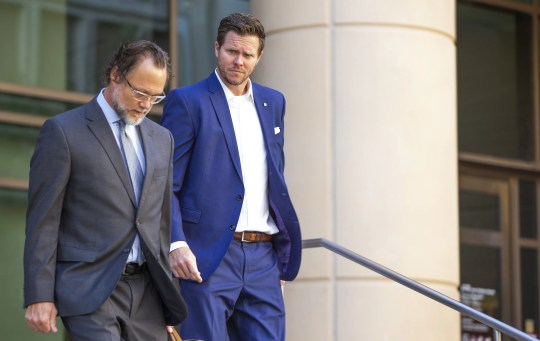 Paul Petersen leaves Maricopa County Superior Court on Nov. 5, 2019, after his arraignment. Petersen faces 32 felony charges in Maricopa County Superior Court related to allegations that he operated an illegal international adoption scheme. He pleaded not guilty.