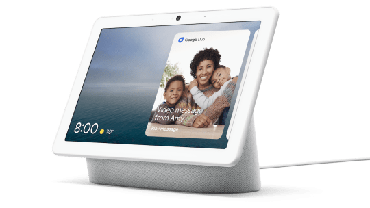 Some (but not all) smart displays such as the Google Nest Hub shown here let you make free hands-free video calls to others. But all of them let you make free phone calls over Wi-Fi.