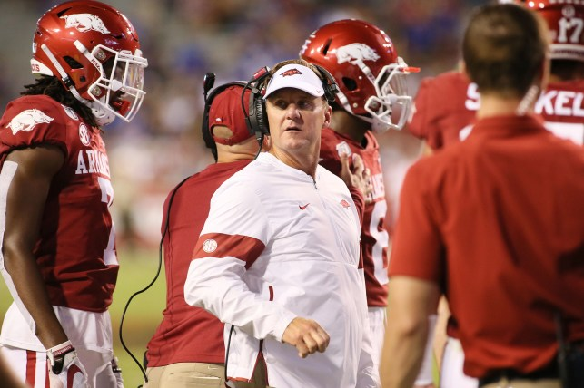 Arkansas football coach Chad Morris out in middle of his second season