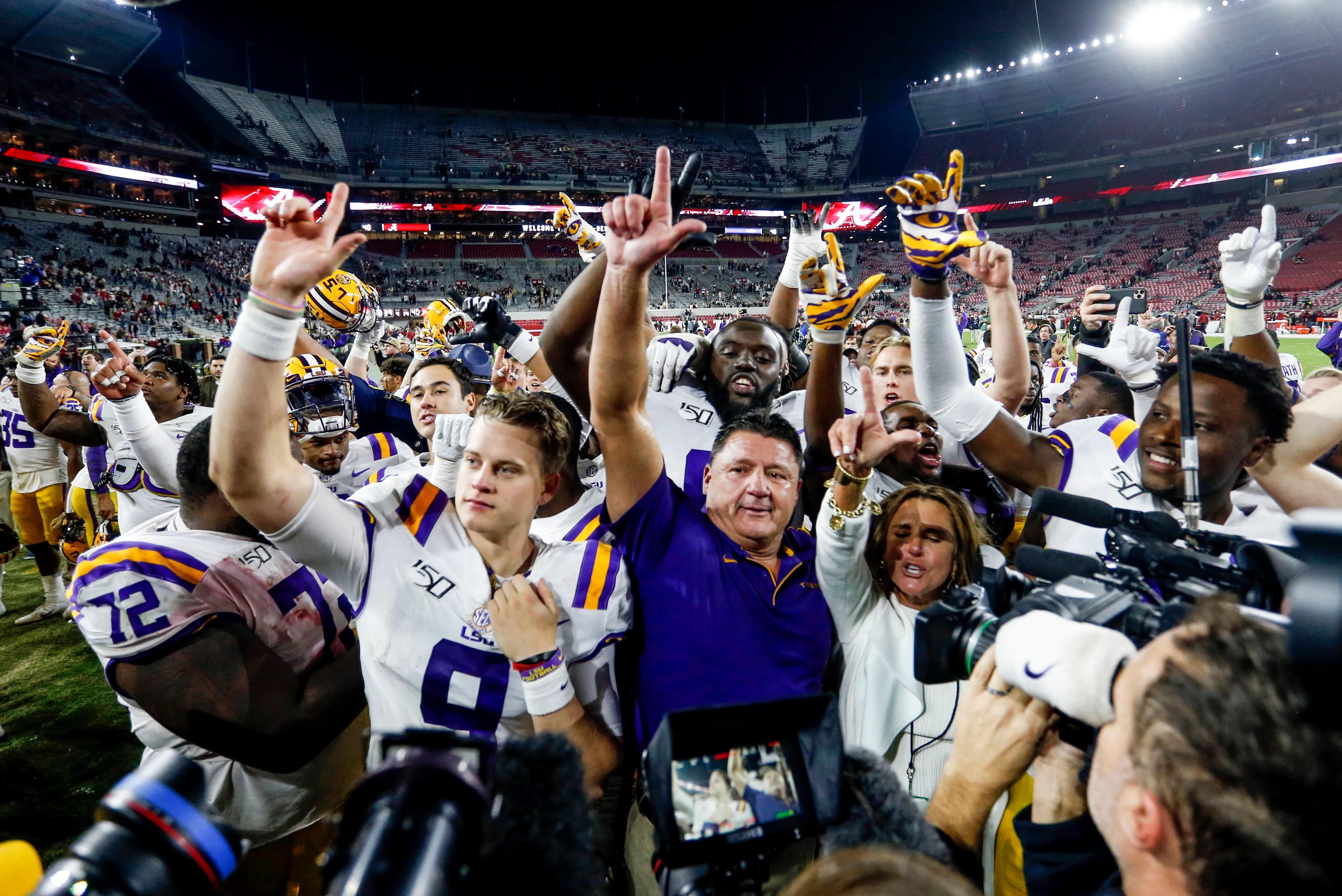 College Football Ncaa Re Rank Lsu Passes Ohio State As No