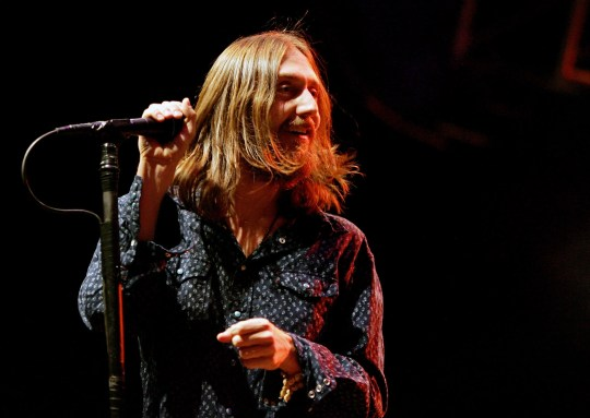 Singer Chris Robinson of The Black Crowes, seen here performing at the Vegoose music festival at Sam Boyd Stadium's Star Nursery Field October 28, 2006 in Las Vegas.
