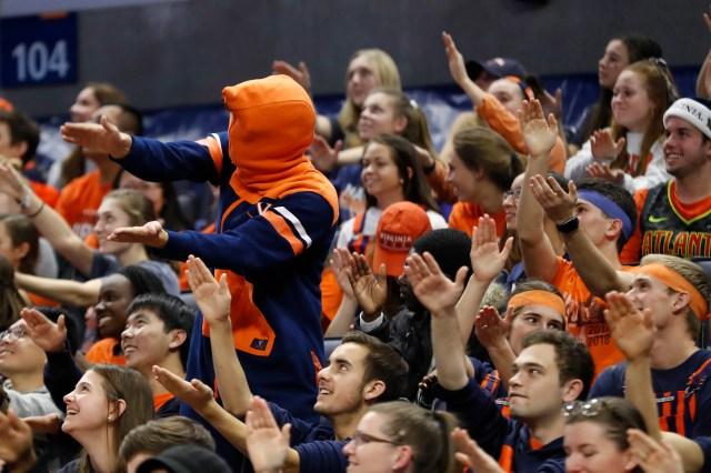Nov. 10: Virginia Cavaliers fans do the